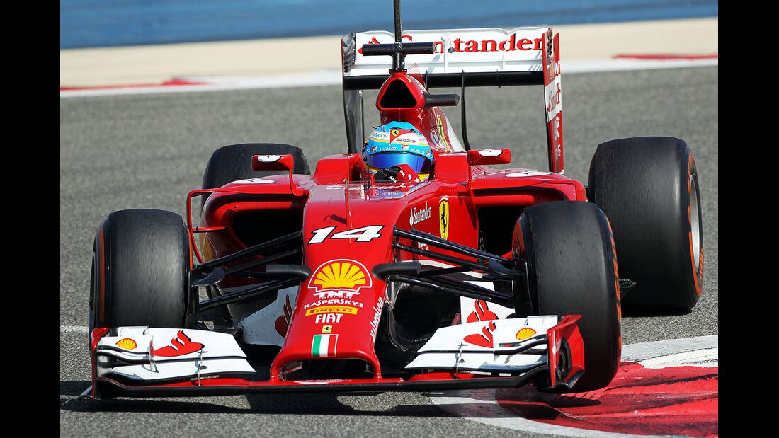 Fernando Alonso - Ferrari - Formel 1 - Bahrain - Test - 20. Februar 2014