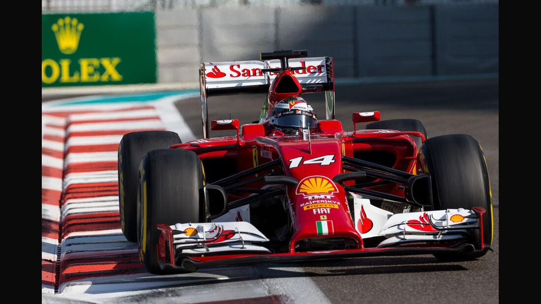 Fernando Alonso - Ferrari - Formel 1 - GP Abu Dhabi - 22. November 2014