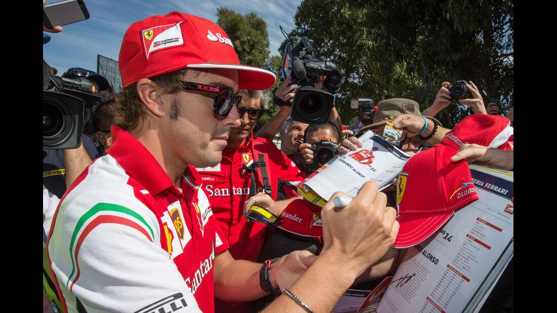 Fernando Alonso - Ferrari - Formel 1 - GP Australien - Melbourne - 13. März 2014