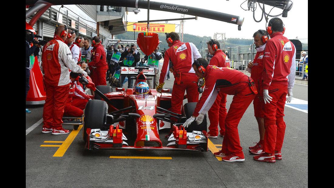 Fernando Alonso - Ferrari - Formel 1 - GP Belgien - Spa-Francorchamps - 22. August 2014