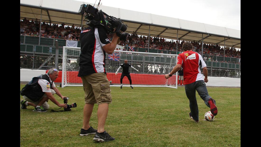 Fernando Alonso - Ferrari - Formel 1 - GP England - Silverstone - 3. Juli 2014