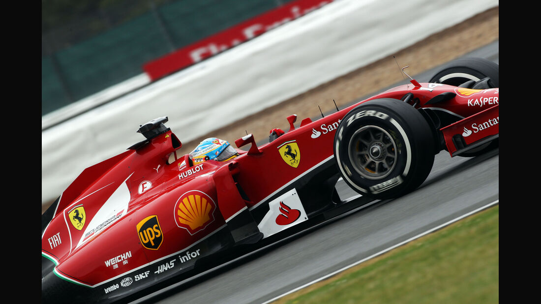 Fernando Alonso - Ferrari - Formel 1 - GP England - Silverstone - 5. Juli 2014
