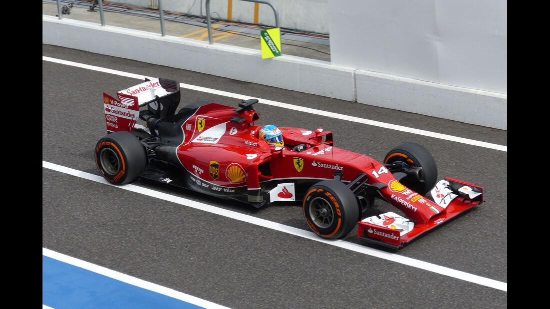 Fernando Alonso - Ferrari - Formel 1 - GP Japan - 3. Oktober 2014