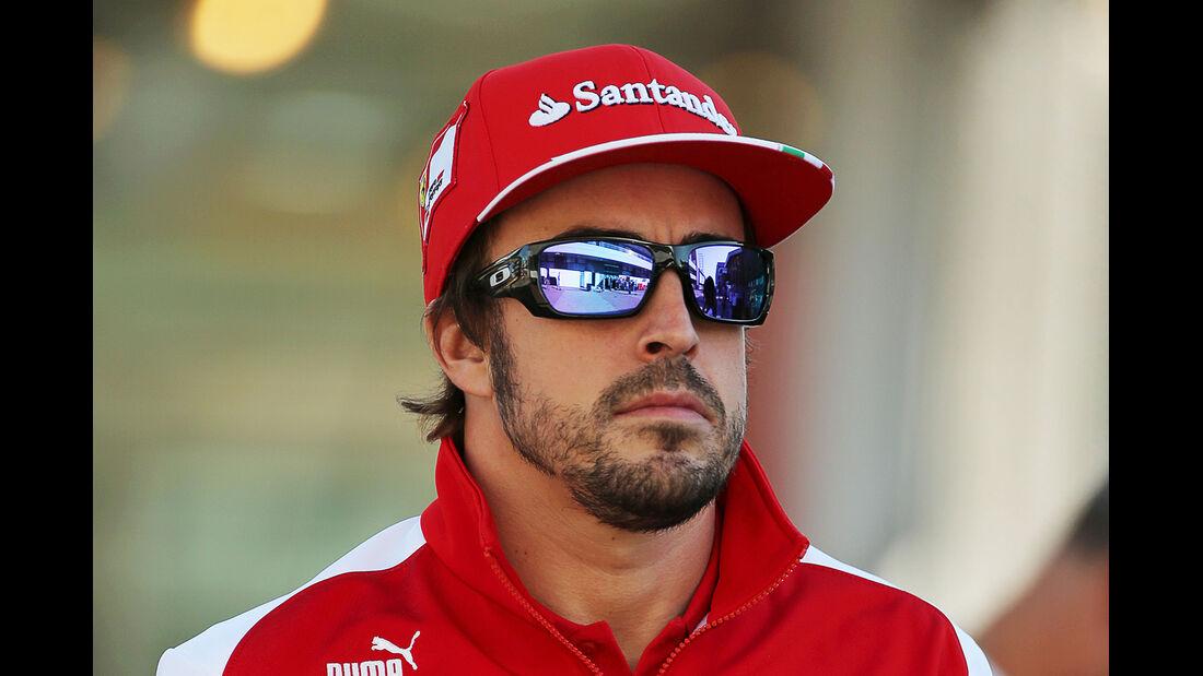 Fernando Alonso - Ferrari - Formel 1 - GP Korea - 3. Oktober 2013