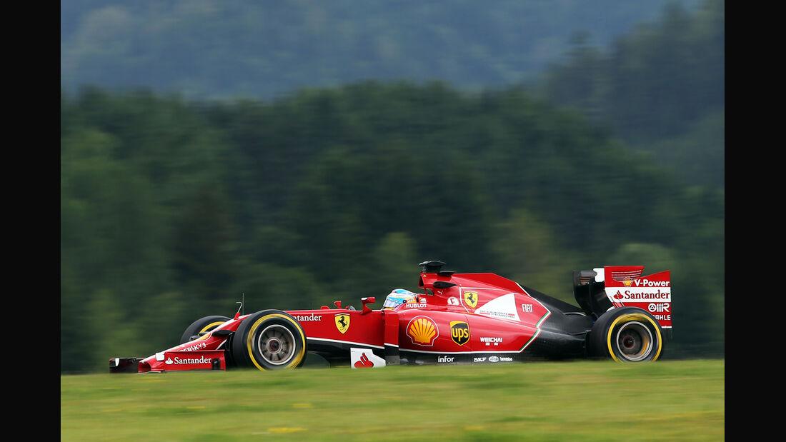 Fernando Alonso - Ferrari - Formel 1 - GP Österreich - Spielberg - 20. Juni 2014