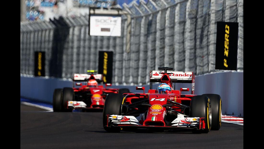 Fernando Alonso - Ferrari - Formel 1 - GP Russland - Sochi - 10. Oktober 2014