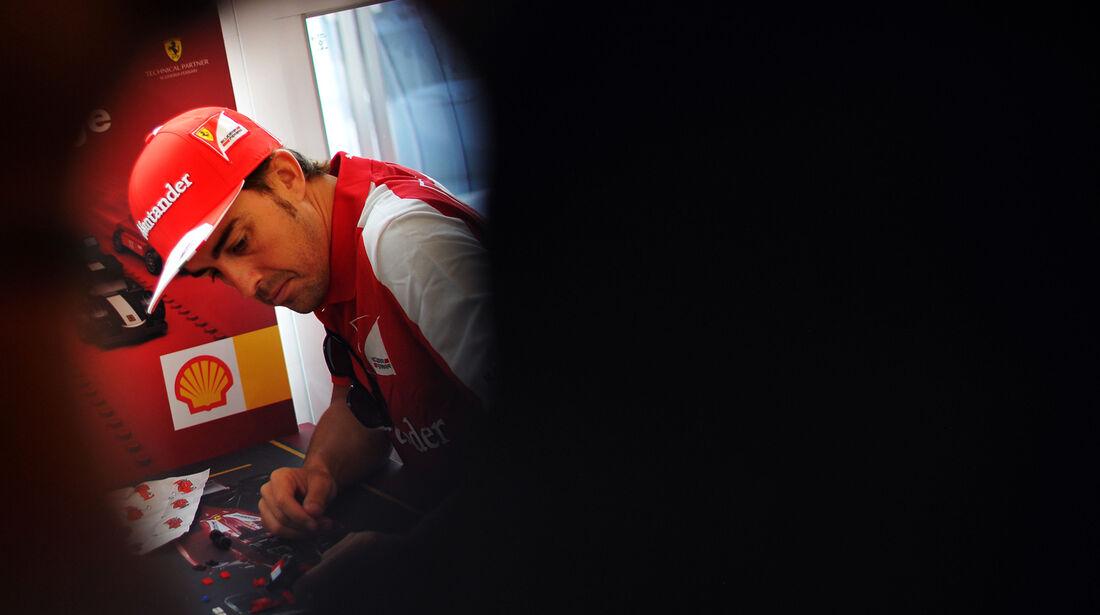 Fernando Alonso - Ferrari - Formel 1 - GP Ungarn - 25. Juli 2012