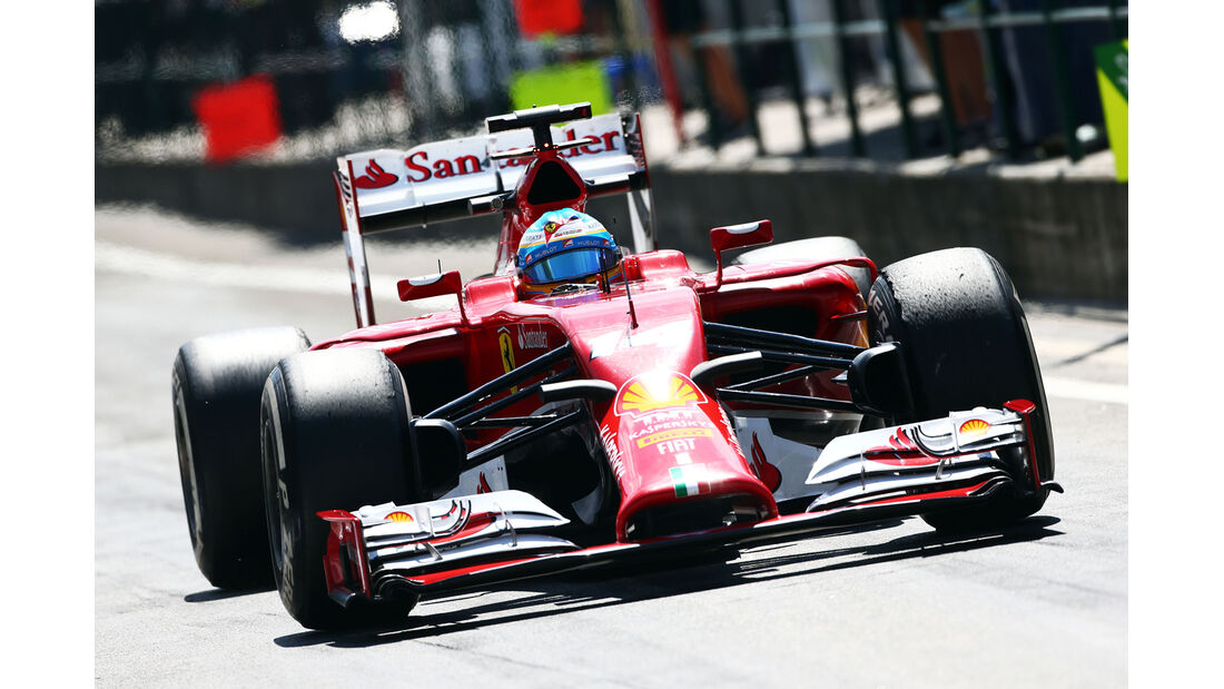 Fernando Alonso - Ferrari - Formel 1 - GP Ungarn - 25. Juli 2014