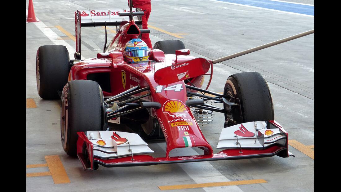 Fernando Alonso - Ferrari - Formel 1 - Test - Bahrain - 20. Februar 2014