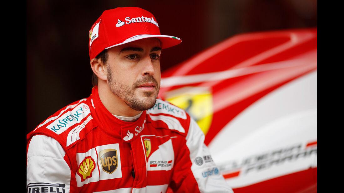 Fernando Alonso, Ferrari, Formel 1-Test, Barcelona, 19.2.2013