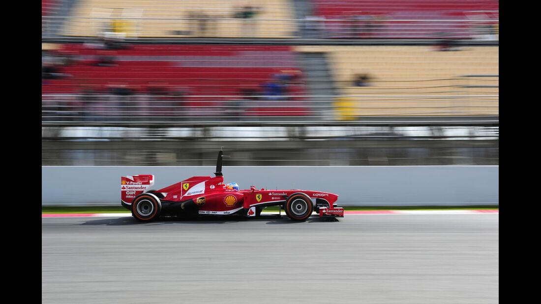 Fernando Alonso, Ferrari, Formel 1-Test, Barcelona, 19. Februar 2013