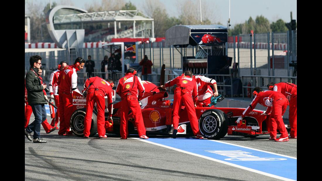 Fernando Alonso, Ferrari, Formel 1-Test, Barcelona, 20. Februar 2013