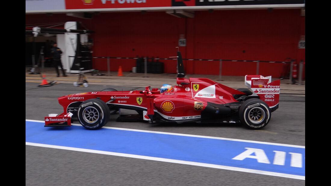 Fernando Alonso - Ferrari - Formel 1 - Test - Barcelona - 21. Februar 2013