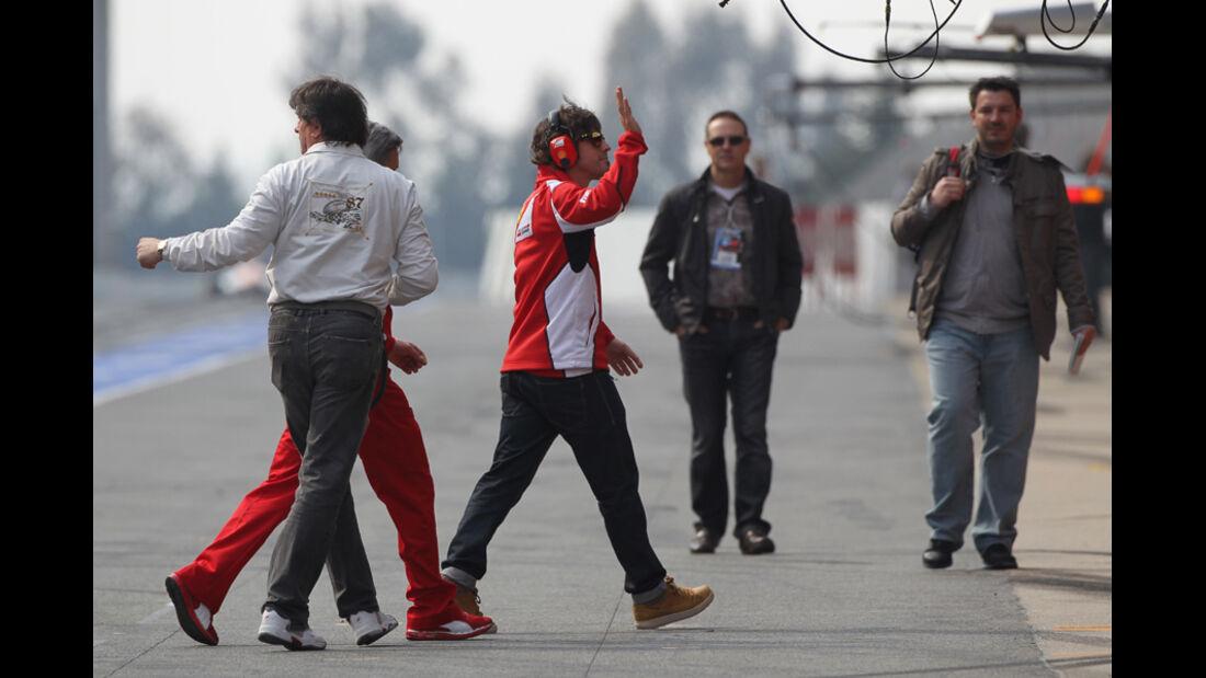 Fernando Alonso - Ferrari - Formel 1-Test Barcelona - 3. März 2012