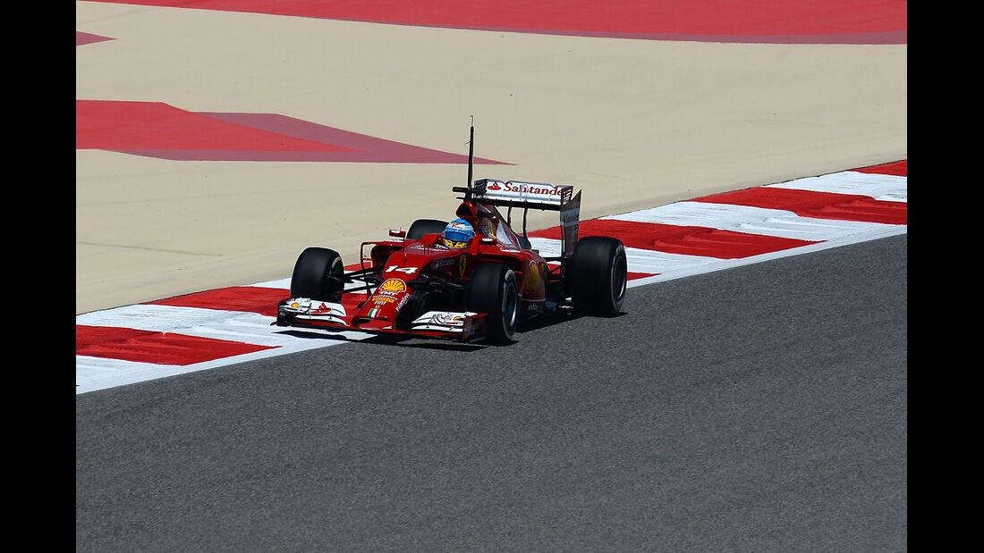 Fernando Alonso - Ferrari - Formel 1 - Test - GP Bahrain - 9. April 2014