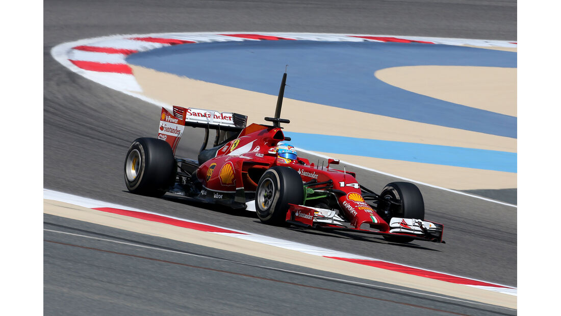 Fernando Alonso - Ferrari - GP Bahrain - Test 2 - 9. April 2014