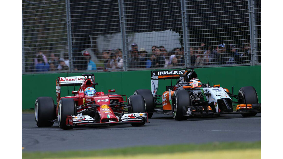 Fernando Alonso - Ferrari - Nico Hülkenberg - Force India - Formel 1 - GP Australien - 16. März 2014
