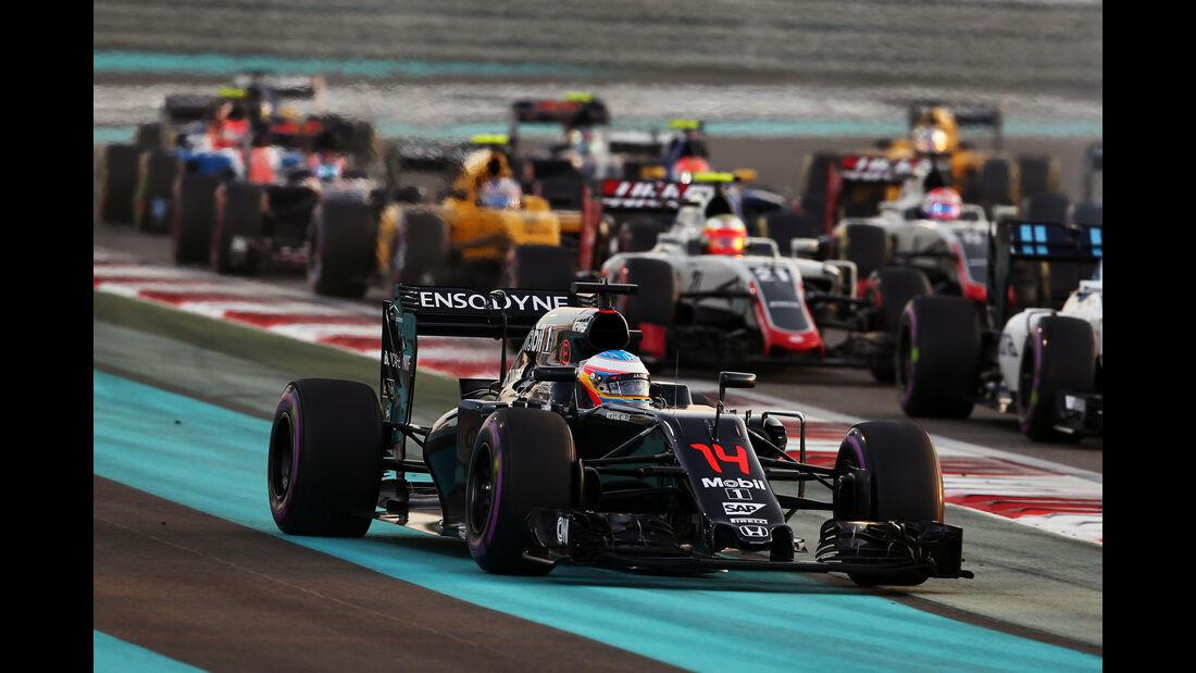 Fernando Alonso - Formel 1 - GP Abu Dhabi 2016