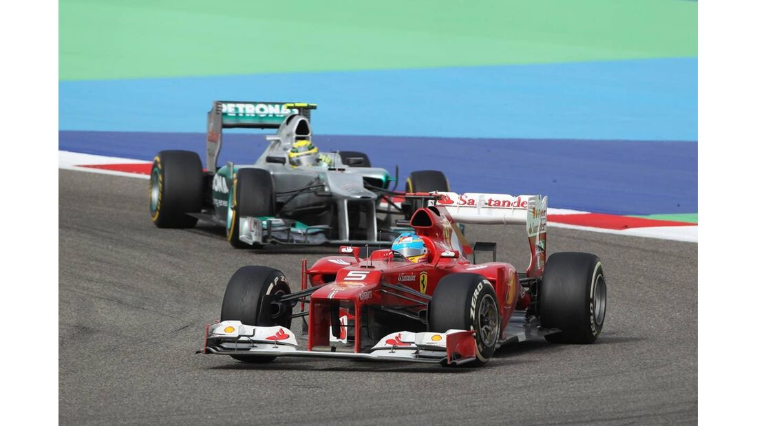 Fernando Alonso  - Formel 1 - GP Bahrain - 22. April 2012