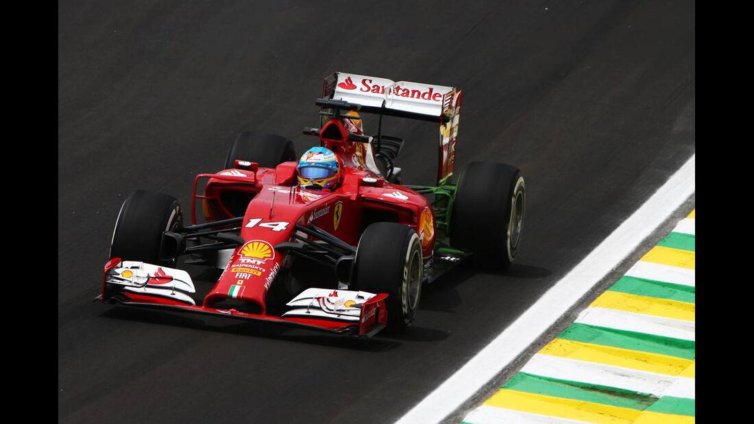 Fernando Alonso - Formel 1 - GP Brasilien- 7. November 2014