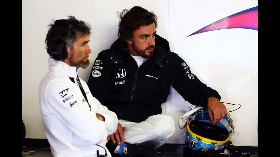 Fernando Alonso  - Formel 1 - GP Monaco - Donnerstag - 21. Mai 2015