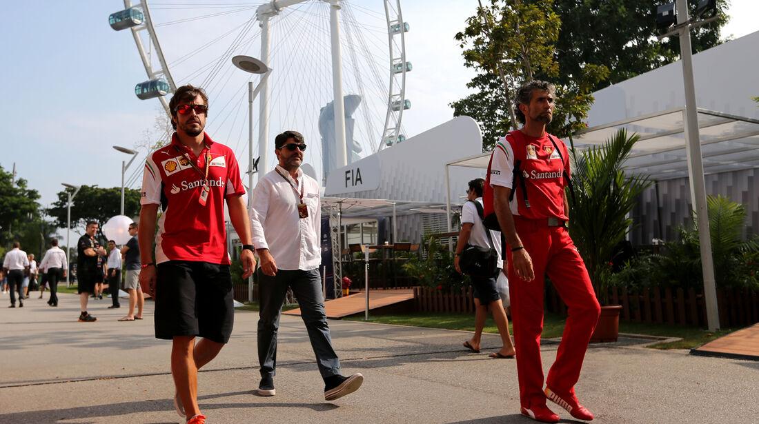 Fernando Alonso - Formel 1 - GP Singapur - 19. September 2014