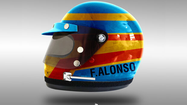 Fernando Alonso - Formel 1 - Retro-Helme - Sean Bull - 2018