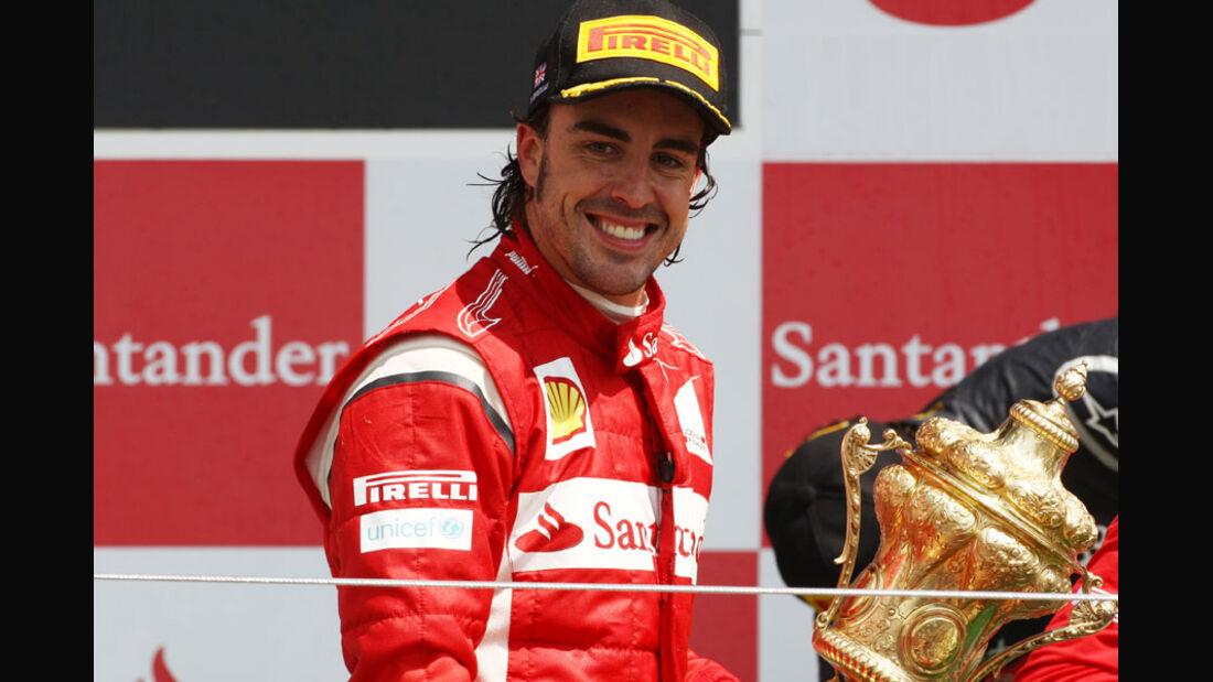 Fernando Alonso GP England 2011 Rennen