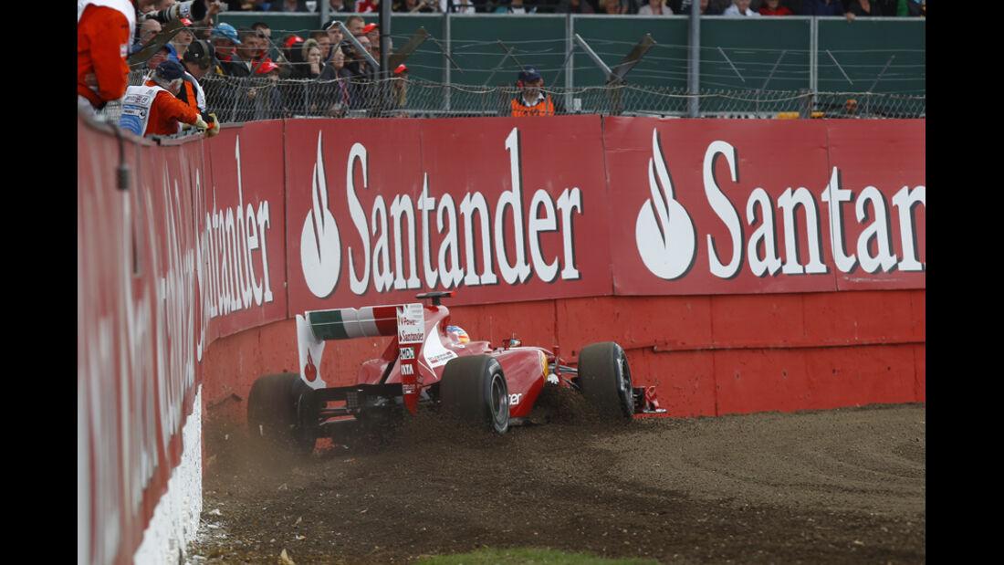 Fernando Alonso GP England Crashs 2011