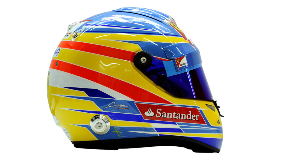 Fernando Alonso Helm 2012