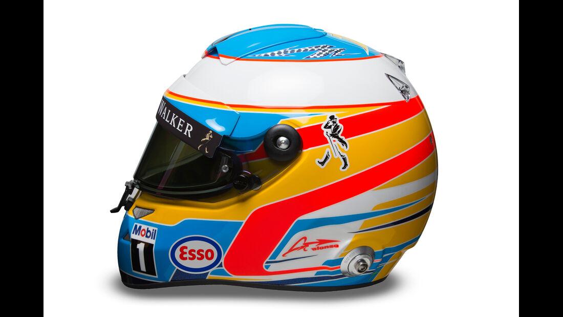 Fernando Alonso - Helm  - Formel 1 - 2015