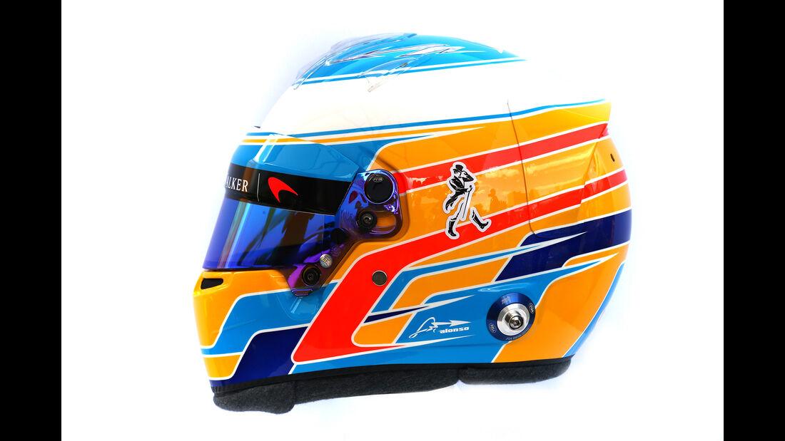 Fernando Alonso - Helm - Formel 1 - 2017