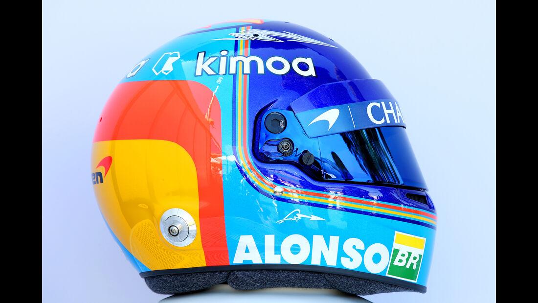 Fernando Alonso - Helm - Formel 1 - 2018
