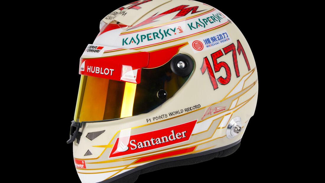 Fernando Alonso Helm - GP Indien 2013