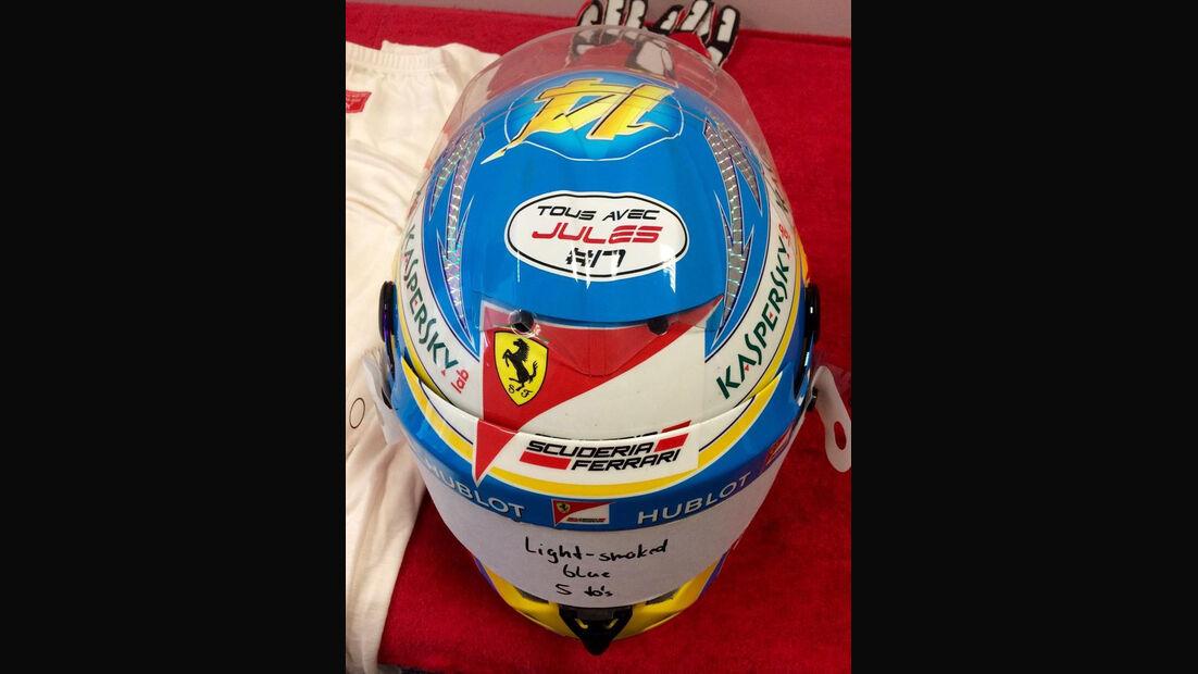 Fernando Alonso-Helm - Jules Bianchi - GP Russland 2014