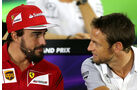 Fernando Alonso & Jenson Button - Formel 1 - GP Abu Dhabi - 20. November 2014