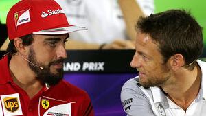 Fernando Alonso & Jenson Button - GP Abu Dhabi 2014