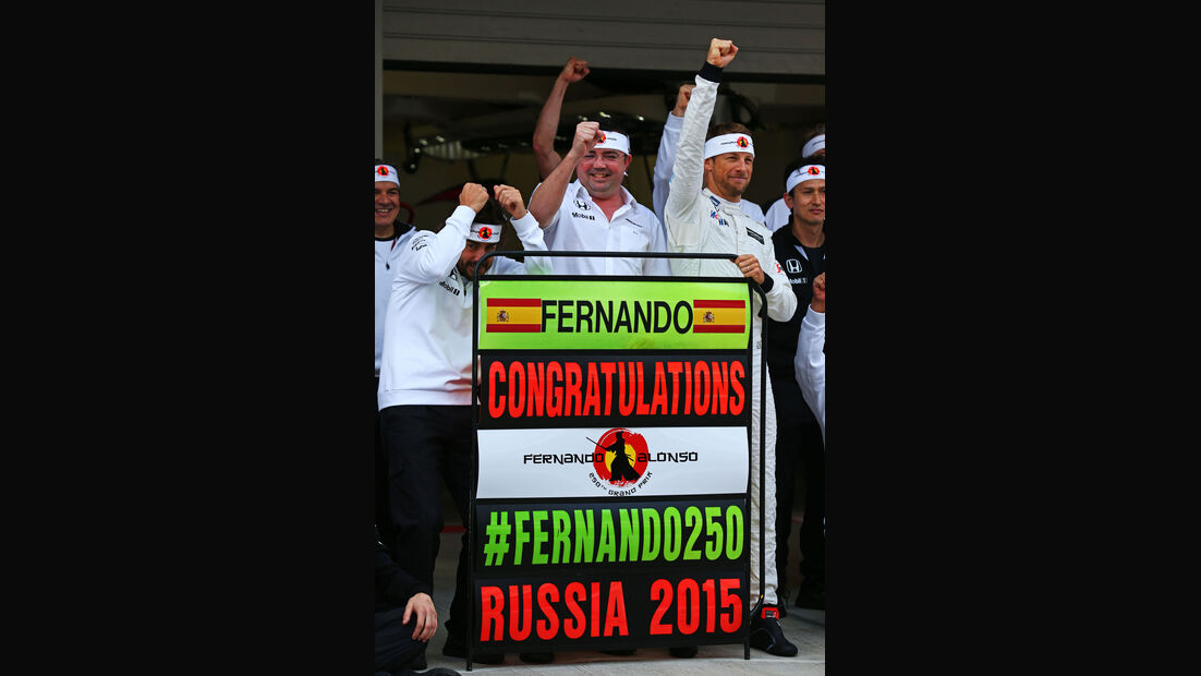 Fernando Alonso - Jenson Button - McLaren-Honda - GP Russland - Sochi - Freitag - 9.10.2015