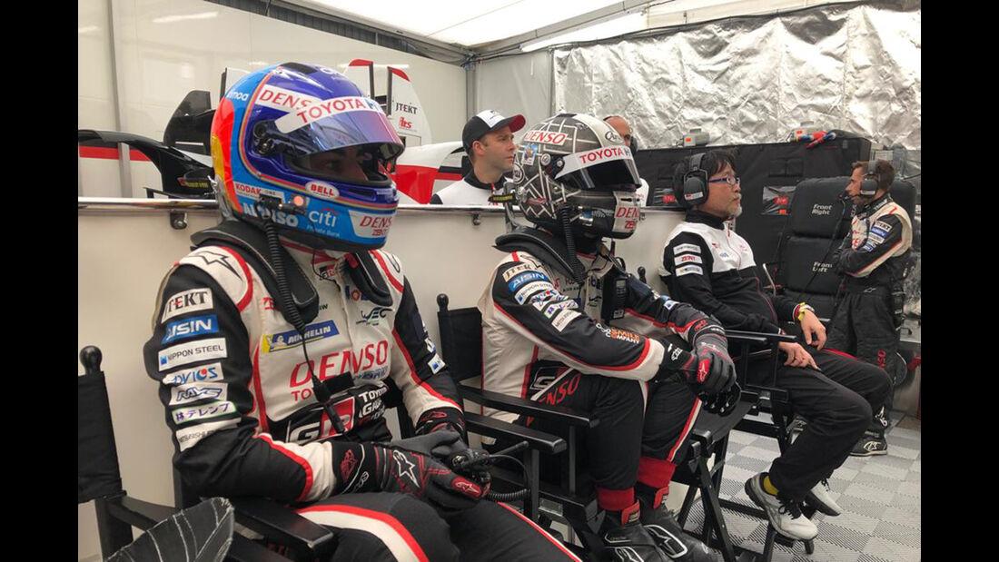 Fernando Alonso - Kamui Kobayahi - Toyota - 24h-Rennen Le Mans - Samstag - 15.06.2019