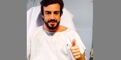 Fernando Alonso - Krankenhaus - Barcelona 2015