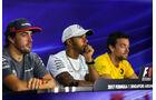 Fernando Alonso - Lewis Hamilton - Jolyon Palmer - GP Singapur - Formel 1 - Donnerstag - 14.9.2017