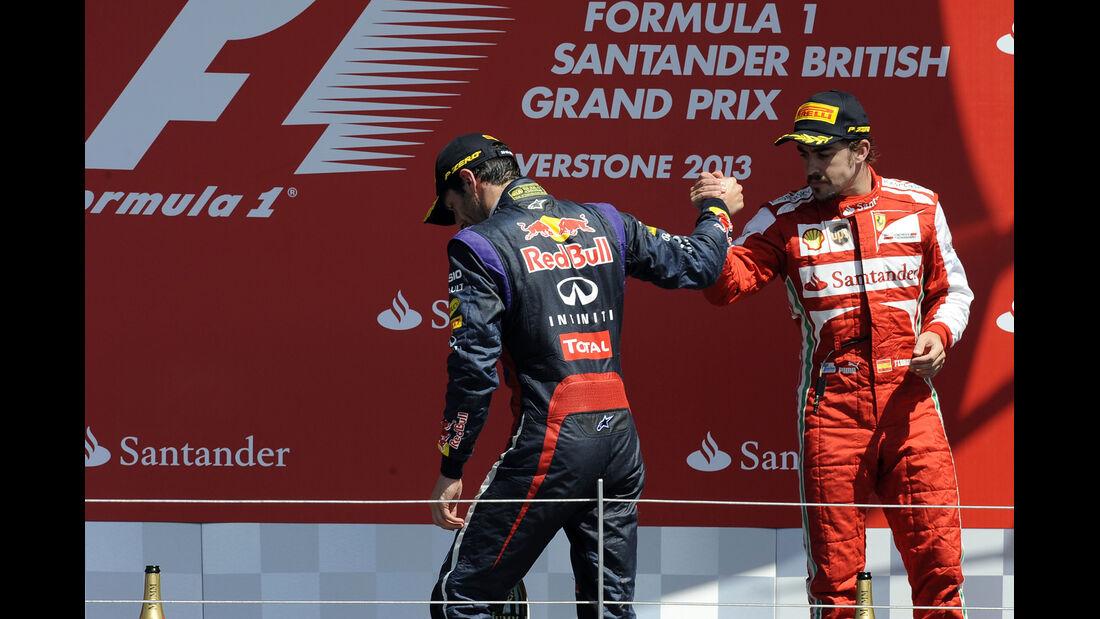 Fernando Alonso - Mark Webber  - Formel 1 - GP England - 30. Juni 2013