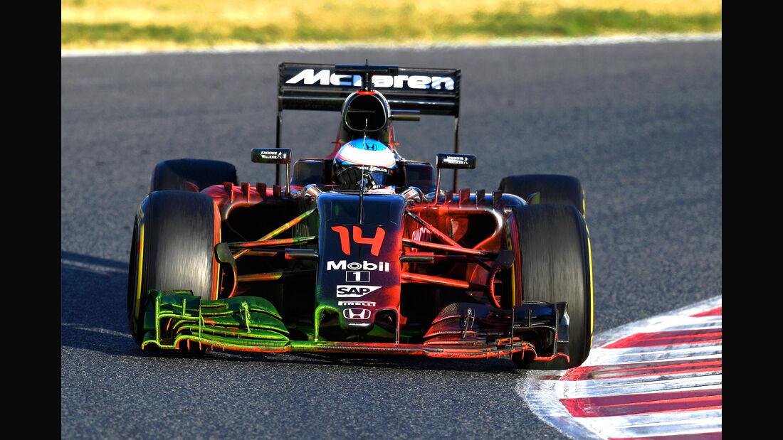 Fernando Alonso - McLaren - Barcelona - F1-Test - FloViz - 2016