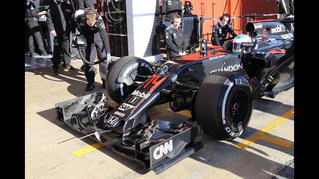 Fernando Alonso - McLaren - Barcelona - Formel 1-Test - 1. März - 2016