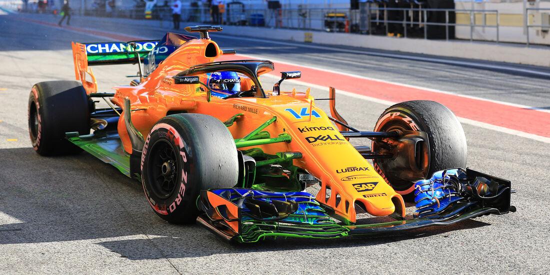 Fernando Alonso - McLaren - F1-Test - Barcelona - Tag 8 - 9. März 2018
