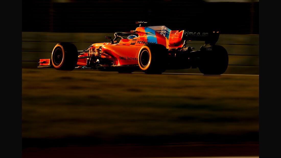 Fernando Alonso - McLaren - Formel 1 - GP Abu Dhabi  -24. November 2018