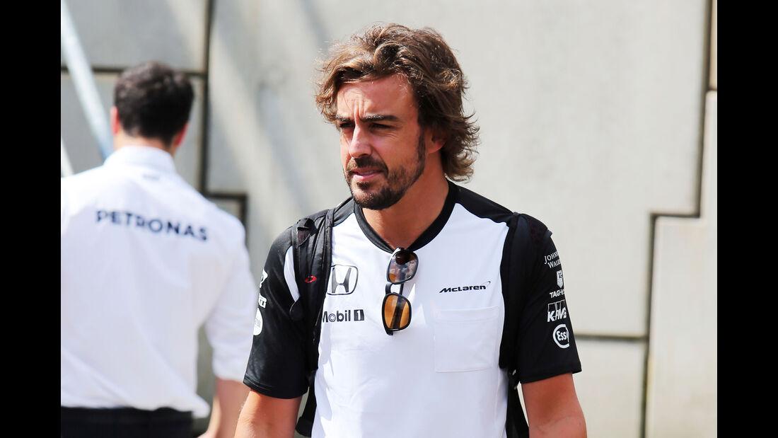 Fernando Alonso - McLaren - Formel 1 - GP Belgien - Spa-Francorchamps - 20. August 2015