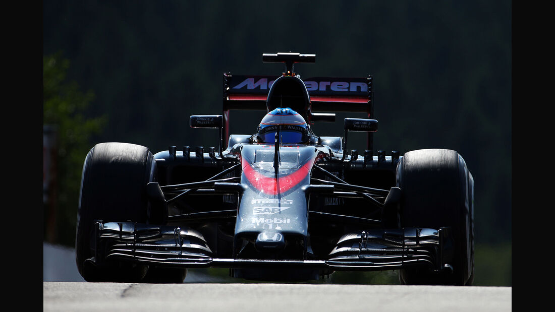 Fernando Alonso - McLaren - Formel 1 - GP Belgien - Spa-Francorchamps - 21. August 2015