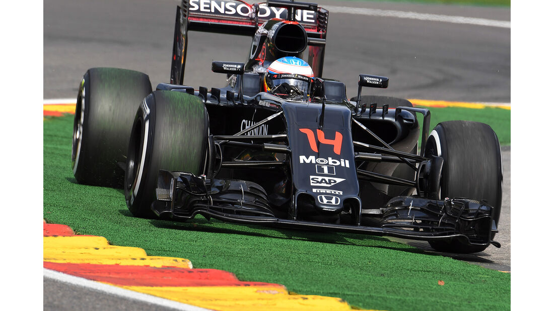 Fernando Alonso - McLaren - Formel 1 - GP Belgien - Spa-Francorchamps - 26. August 2016