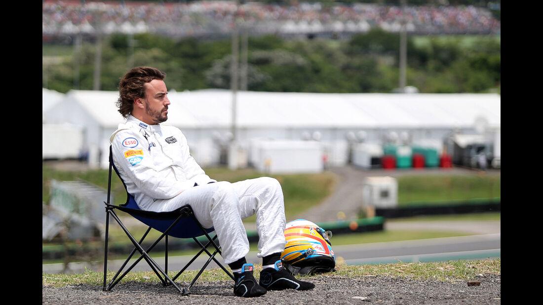Fernando Alonso - McLaren - Formel 1 - GP Brasilien- 14. November 2015